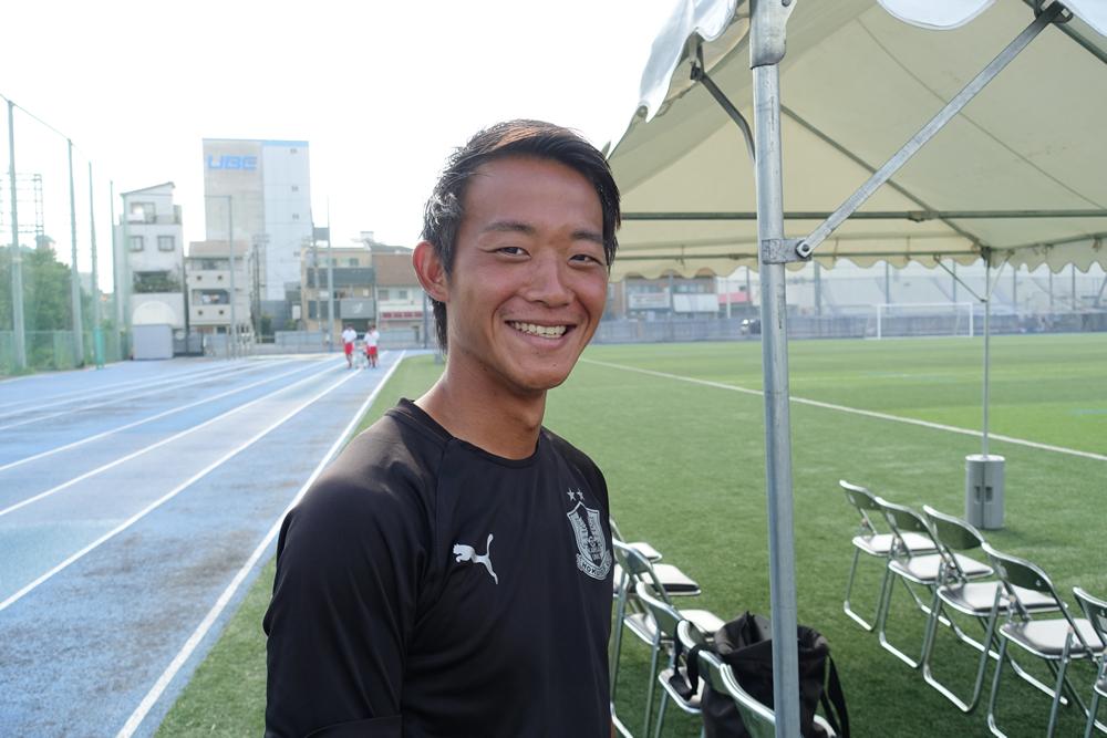 【昨日一年生大会で優勝しました!」!関大北陽OBの今東さん